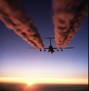 Plane contrails copy